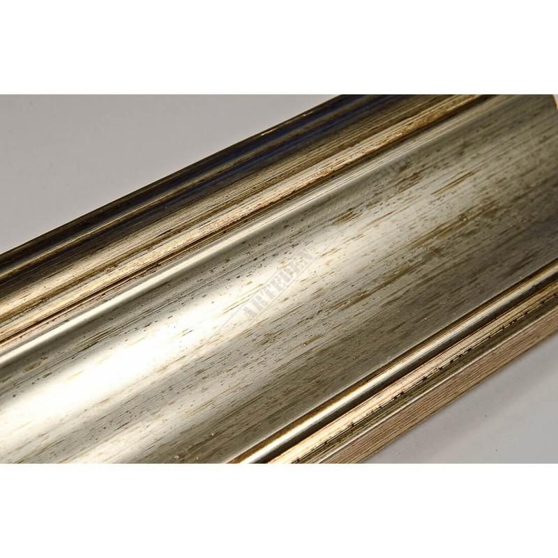 PLA314/177 70x30 - drewniana new classic srebrna blejtram rama do obrazów i luster