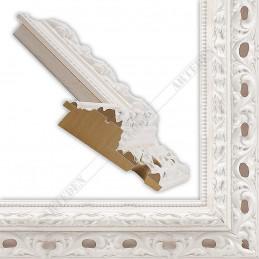 PLA315/LB 108x46 - biały ażur rama do dużych obrazów i luster