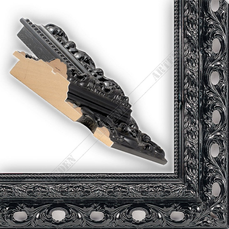 PLA315/LN 108x46 - czarny ażur rama do dużych obrazów i luster