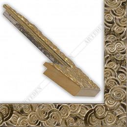 PLA401/051 50x15 - drewniana srebrna klimt rama do obrazów i luster sample
