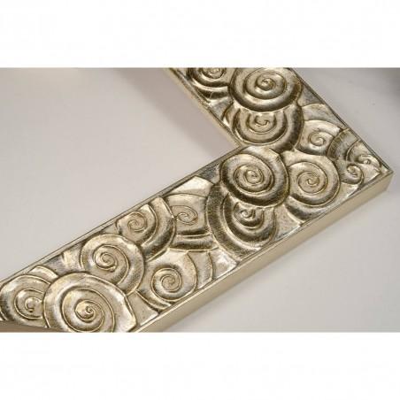PLA401/051 50x15 - drewniana srebrna klimt rama do obrazów i luster