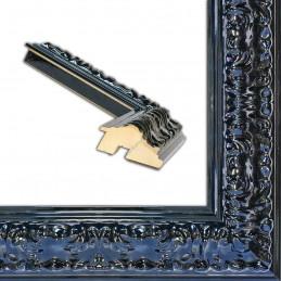 PLA4100/LN 86x49 - szeroka restyle czarna połysk rama do obrazów i luster