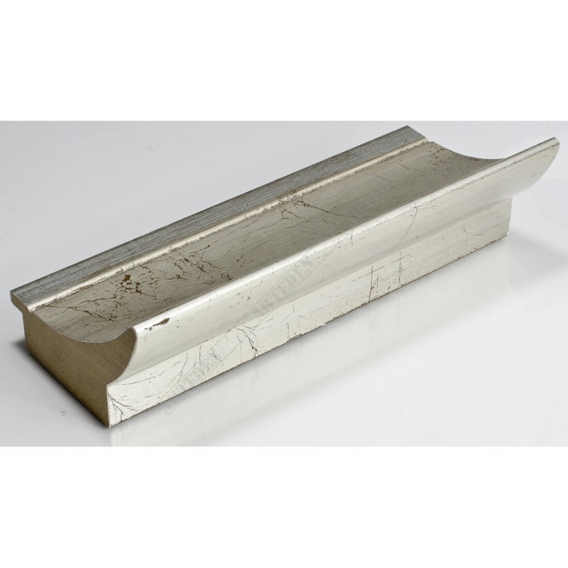 PLA513/805 90x60 - szeroka srebro spękane rama do obrazów i luster