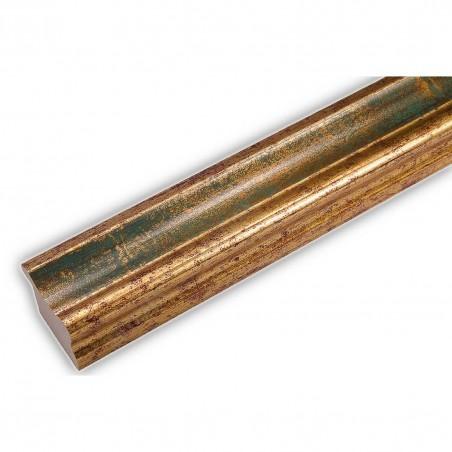 PLA735/0691 35x25 - drewniana złota-zieleń rama do obrazów