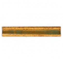 PLA735/0691 35x25 - drewniana złota-zieleń rama do obrazów i luster sample2