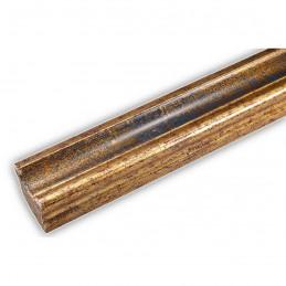 PLA735/0692 35x25 - drewniana złota-granat rama do obrazów i luster