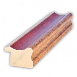 PLA735/0693 35x25 - drewniana złota-czerwień rama do obrazów i luster sample1