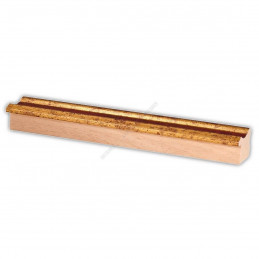PLA735/0693 35x25 - drewniana złota-czerwień rama do obrazów i luster sample