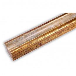 PLA735/0695 35x25 - drewniana złota-biel rama do obrazów i luster