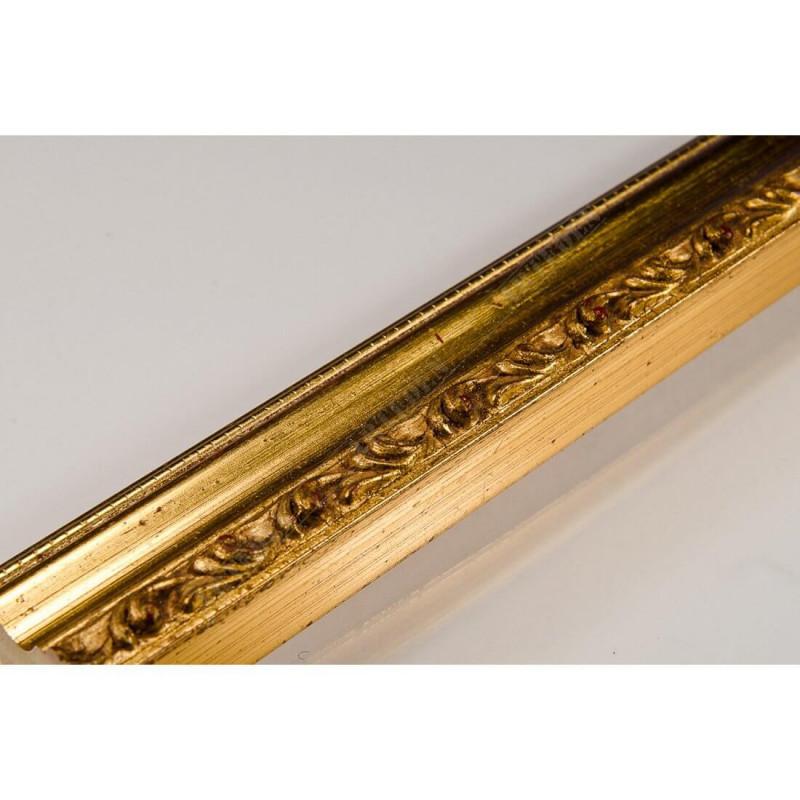PLA736A/OP 27x15 - wąska złota dekor rama do zdjęć i luster