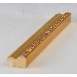 PLA736A/OP 27x15 - wąska złota dekor rama do zdjęć i luster sample
