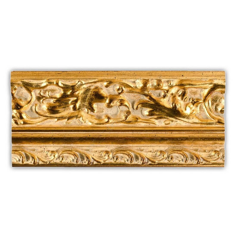 PLA796/532 95x55 - szeroka złota dekor rama do obrazów i luster