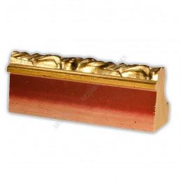 PLA797/532 80x80 - szeroka złota dekor rama do obrazów i luster sample