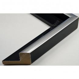 PLA801/NFA 40x35 - drewniana american box czarna rama do obrazów i luster sample