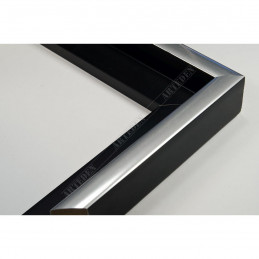 PLA801/NFA 40x35 - drewniana american box czarna rama do obrazów i luster