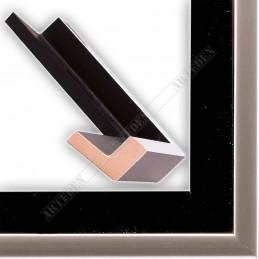 PLA801/NFA 40x35 - drewniana american box czarna rama do obrazów i luster sample1