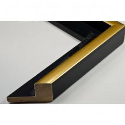 PLA801/NFO 40x35 - drewniana american box czarna rama do obrazów i luster sample1