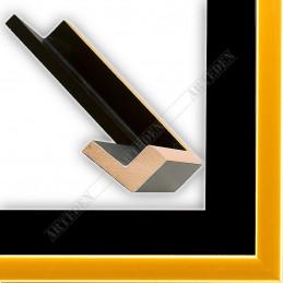 PLA801/NFO 40x35 - drewniana american box czarna rama do obrazów i luster sample