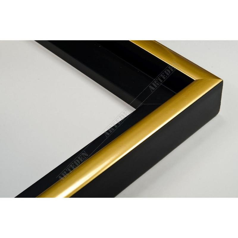 PLA801/NFO 40x35 - drewniana american box czarna rama do obrazów i luster