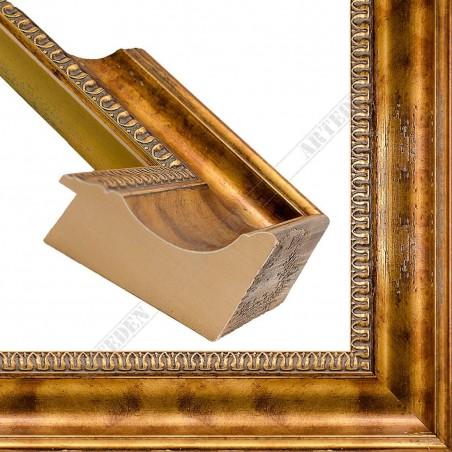 PLA8069/1020 90x65 - staro ciemno złota rama do obrazów i luster