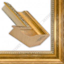 PLA8069/1030 90x65 - szeroka jasne złoto postarzane rama do obrazów i luster