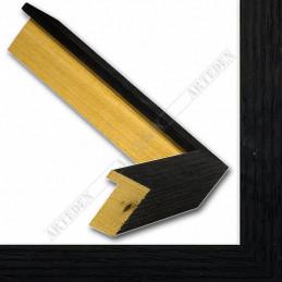 SCO1006/83 18x33 - mała czarna blejtram ramka do zdjęć i obrazków sample