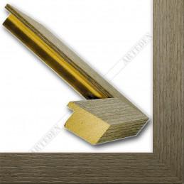 SCO1007/82 33x22 - drewniana popielata rama do obrazów i luster sample