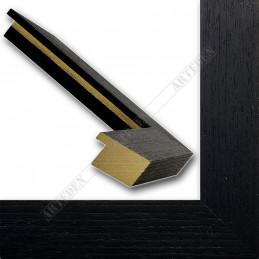 SCO1007/83 33x22 - drewniana czarna rama do obrazów i luster sample