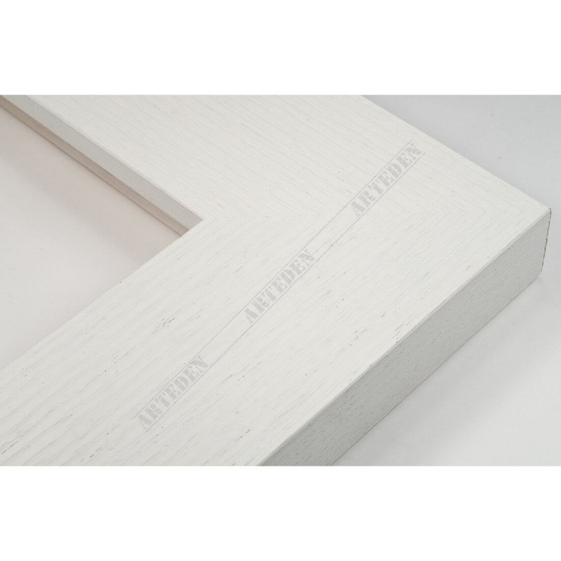 SCO1009/84 74x29 - szeroka biała blejtram rama do obrazów i luster