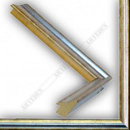SCO145/93 23x23 - wąska classica srebrna rama do zdjęć i luster sample