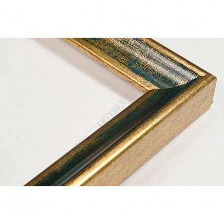 SCO145/95 23x23 - wąska classica złota-granat rama do zdjęć i luster