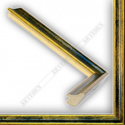 SCO145/95 23x23 - wąska classica złota-granat rama do zdjęć i luster sample