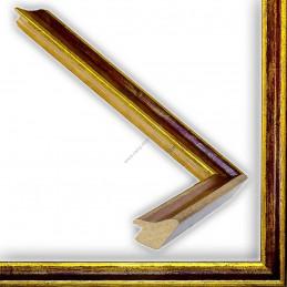 SCO145/96 23x23 - wąska classica złota-bordowa rama do zdjęć i luster