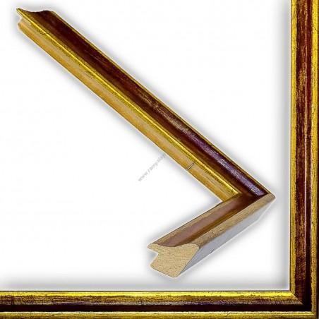SCO145/96 23x23 - wąska classica złota-bordowa rama do zdjęć