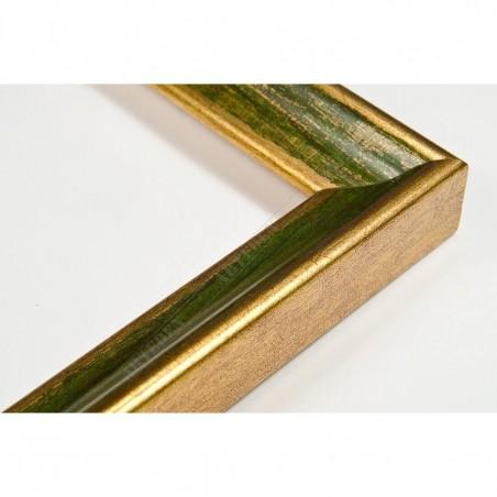 SCO145/97 23x23 - wąska classica złota-zielona rama do zdjęć