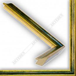 SCO145/97 23x23 - wąska classica złota-zielona rama do zdjęć i luster sample
