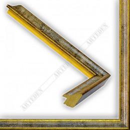 SCO145/98 23x23 - wąska classica złota-biała rama do zdjęć i luster sample
