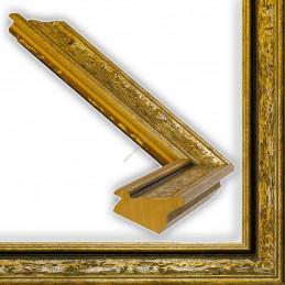 SCO167/11 33x22 - drewniana anciennes brązowa patynowana rama do obrazów i luster sample