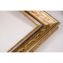 SCO167/11 33x22 - drewniana anciennes brązowa patynowana rama do obrazów i luster