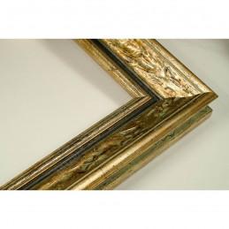 SCO167/12 33x22 - drewniana anciennes zielona patynowana rama do obrazów i luster