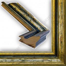 SCO168/12 75x50 - szeroka anciennes zielona patynowana postarzane rama do obrazów i luster sample