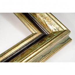 SCO168/12 75x50 - szeroka anciennes zielona patynowana postarzane rama do obrazów i luster