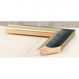 SCO2020/201 45x23 - drewniana pastelli niebieska-srebrna rama do obrazów i luster sample1