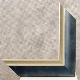 SCO2020/201 45x23 - drewniana pastelli niebieska-srebrna rama do obrazów i luster sample