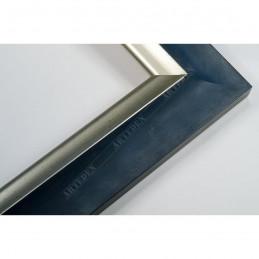 SCO2020/201 45x23 - drewniana pastelli niebieska-srebrna rama do obrazów i luster