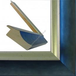 SCO2020/201 45x23 - drewniana pastelli niebieska-srebrna rama do obrazów i luster sample2