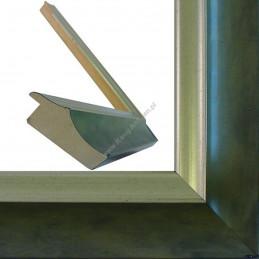 SCO2020/202 45x23 - drewniana pastelli zielona-srebrna rama do obrazów i luster sample2