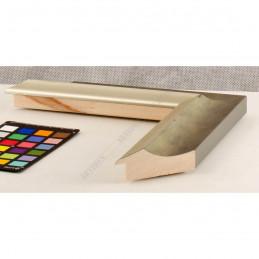 SCO2020/202 45x23 - drewniana pastelli zielona-srebrna rama do obrazów i luster sample1