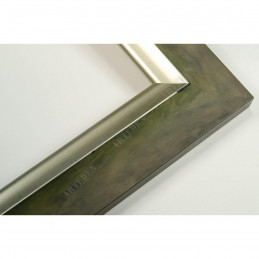 SCO2020/202 45x23 - drewniana pastelli zielona-srebrna rama do obrazów i luster