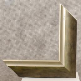 SCO2020/202 45x23 - drewniana pastelli zielona-srebrna rama do obrazów i luster sample